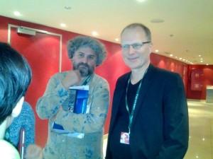Robert Bramkamp mit Cine Fantom Gründer Andrey Silvestrov